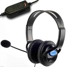 Deluxe Headset auricular con micrófono + control de volumen para PS4 Controller