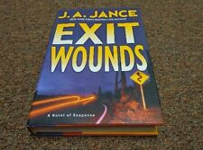 J. A. JANCE hardcover bk, SERIES: JOANN BRADY MYSTERY, EXIT WOUNDS, 1st edition