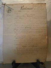 Acte notarié généralité 1855 vente de vigne Eulmont Lorraine