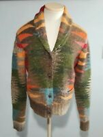 RARE Ralph Lauren Denim Supply  Aztec Shawl Blanket Southwest Sweater Sz L