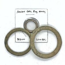 3 Pcs Ancient Celtic Ring Money — Authentic 500 Bc Artifacts Coins Europe Old A