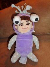 "Monsters Inc Boo Purple Costume Girl 8"" Stuffed Plush Doll Just Play Disney Pixa"