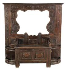 HandomeaProvincial Carved Oak Hall Bench / Tree , 18th Century ( 1700s )!!!