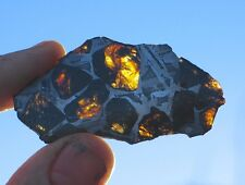 GORGEOUS 20g ETCHED FUKANG PALLASITE METEORITE FULL OF OLIVINE! WHOLESALE PRICE!