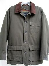 NORTH BAY..DARK KAHKI GREEN..w CORDUROY COLLAR..QUILTED LINED..JACKET..NWOT.sz M