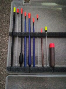 Fishing tackle float box with 10 quality floats to get you started