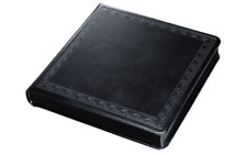 Large Renaissance Embossed Black Leather Wedding Photo Album NIB retails $150