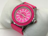 Juicy Couture Women Watch Pink Rubber Band Analog Ladies Wrist Watch Water Resis