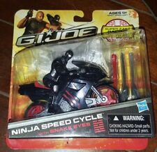 G.I. Joe Retaliation NINJA SPEED CYCLE w/SNAKE EYES - Super Fast Racing Action!