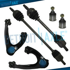 Front Cv Axles + Upper Control arms + Lower Ball Joints for 96-00 Honda Civic