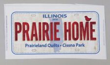 2016 Row by Row Experience Fabric License Plate - Prairie Home - Illinois