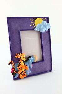 """Disney Store Winnie The Pooh 3D Picture Frame Tigger Eeyore 4"""" x 6"""""""