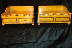 Maitland Smith Vintage Desk File Holders - Very Beautiful and Well Made!