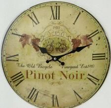 Wanduhr mit alten Fahrrad 1910 Motiv Metall Antiklook Landhaus Uhr Deko Antik