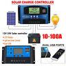 MPPT PWM 100Amp Solar Panel Battery LCD 2 USB Regulator Controller Auto 12V/24V