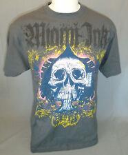 Miami Ink Short Sleeve Gray Skull T-Shirt Size Large