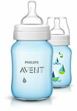 Philips Avent Baby Classic Bottle 260 ml, Blue Boats, Pack of 2