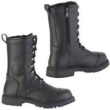 Diora Combat Microfibre Waterproof Cruiser Boots Motorcycle Motorbike Boots