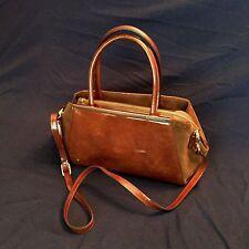 Rowallan of Scotland Genuine Leather Handbag ~ Eloisa in Cognac ~ Free Shipping