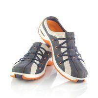 Cole Haan Navy Sneakers Slip On Mule Comfort Shoes Blue Beige Slip On Womens 8