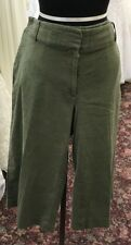 Lane Bryant cropped Pants Women's Sz 18 Green Wide Leg Linen Rayón  Blend