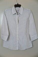 NWT Chico's Optic White/Black Coal Stripe Zyla Shirt Size 0 (XS/S) MSRP $89