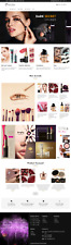 shopify dropshipping beauty cosmetics  website established business with product