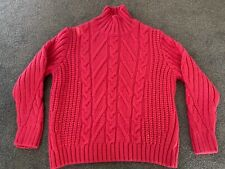 BNWT M&S CHUNKY CABLE KNIT JUMPER - CERISE PINK - UK SIZE M