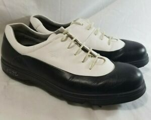 Ecco Golf Shoes HydroMax Unisex Size 41  White/Black Leather Soft Spike
