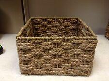 Med SQUARE Seagrass Storage Organizer Toy Bath Office Craft Art Basket 11.5x11.5