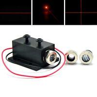 3in1 Dot Line Cross 650nm 5mW Red Focusable Laser Diode Module 12x35mm Heatsink