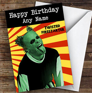 The Prodigy Keith Flint Celebrity Personalised Birthday Card