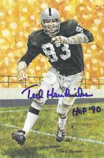 Ted Hendricks Signed Oakland Raiders Goal Line Art Card Blue Hof 90 JSA 21425