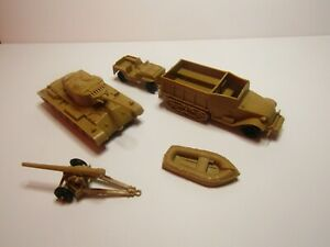 Marx Vintage Desert Fox/Desert Patrol Playset of American Yellow Tan Vehicles
