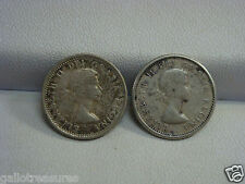 Lot of Two Silver 10 Cents Canadian Coins 1961 and 1964