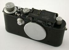 LEICA III model F body Gehäuse M39 LTM 330074 last year 1939 blackpaint chrome