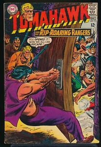 TOMAHAWK and his RIP ROARING-RANGERS No 113 1967 DC Western Comic Book 5.0 VG/FN