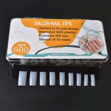 500Pcs/set False French Acrylic Gel Nail Art Edge Tips Natural Manicure Tools