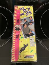 New Kids On The Block Lot Of 4 Watch, School Kit, Danny Posable Figure, Button