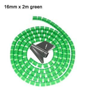 Organizador De Cables En Espiral Flexible Cuerda Del Tubo De Almacenamiento 2m