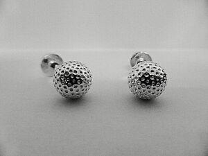 925 sterling silver Golf Ball Cufflinks MADE IN ENGLAND