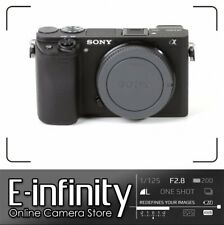 NUOVO Sony Alpha a6300 Mirrorless Digital Camera Black Body (Kit Box)
