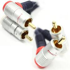 1.5 m Pro señal en ángulo recto de 2 X Rca Phono Ofc Cable