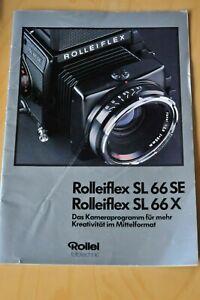 Broschüre Rolleiflex SL 66 SE und SL 66 X