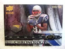 Randy Moss 2008 Upper Deck Icons Numbered#35/750 GEM Mint?Patriots WR #ed Card