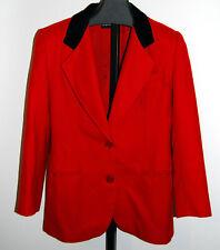 VTG Orig 80s Giorgio Sant Angelo Blazer Jacket Size 8 Equestrian Red Black
