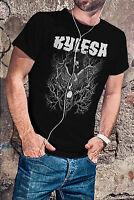 Kylesa Men Black T-Shirt Black Swan Of Ash Heavy Metal Band Tee Shirt
