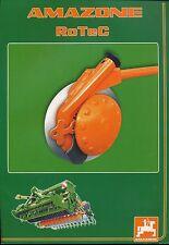 Amazone rotec säkombination prospectus 7/03 brochure 2003 presse catalogue