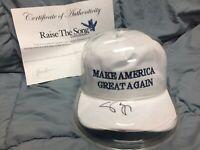 VP Mike Pence Signed Autograph Signature MAGA Hat in Capsule - COA - Trump 2016