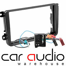 AUTOLEADS VW Sharan 2010 MK2 Car Stereo Double Din Fascia Complete Fitting Kit
